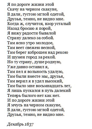 5 место - Н. Огарев «К друзьям»