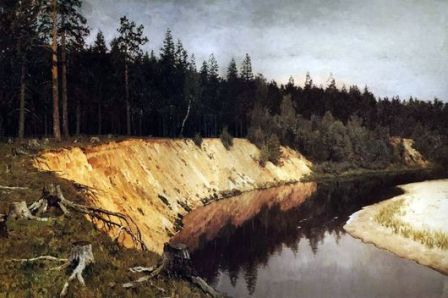 «Лесистый берег» - И.И. Левитан