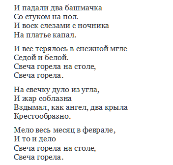 1 место - Б. Пастернак «Зимняя ночь»