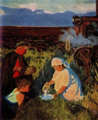 «Ужин трактористов» - А.А. Пластов