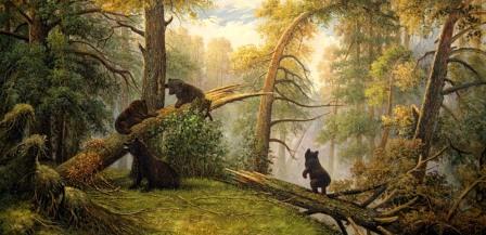 «Утро в сосновом лесу» - И.И. Шишкин